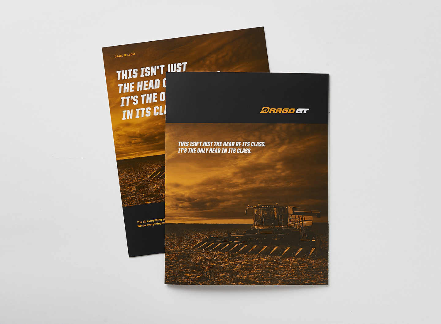 DragoGT Brand Brochure Cover Example
