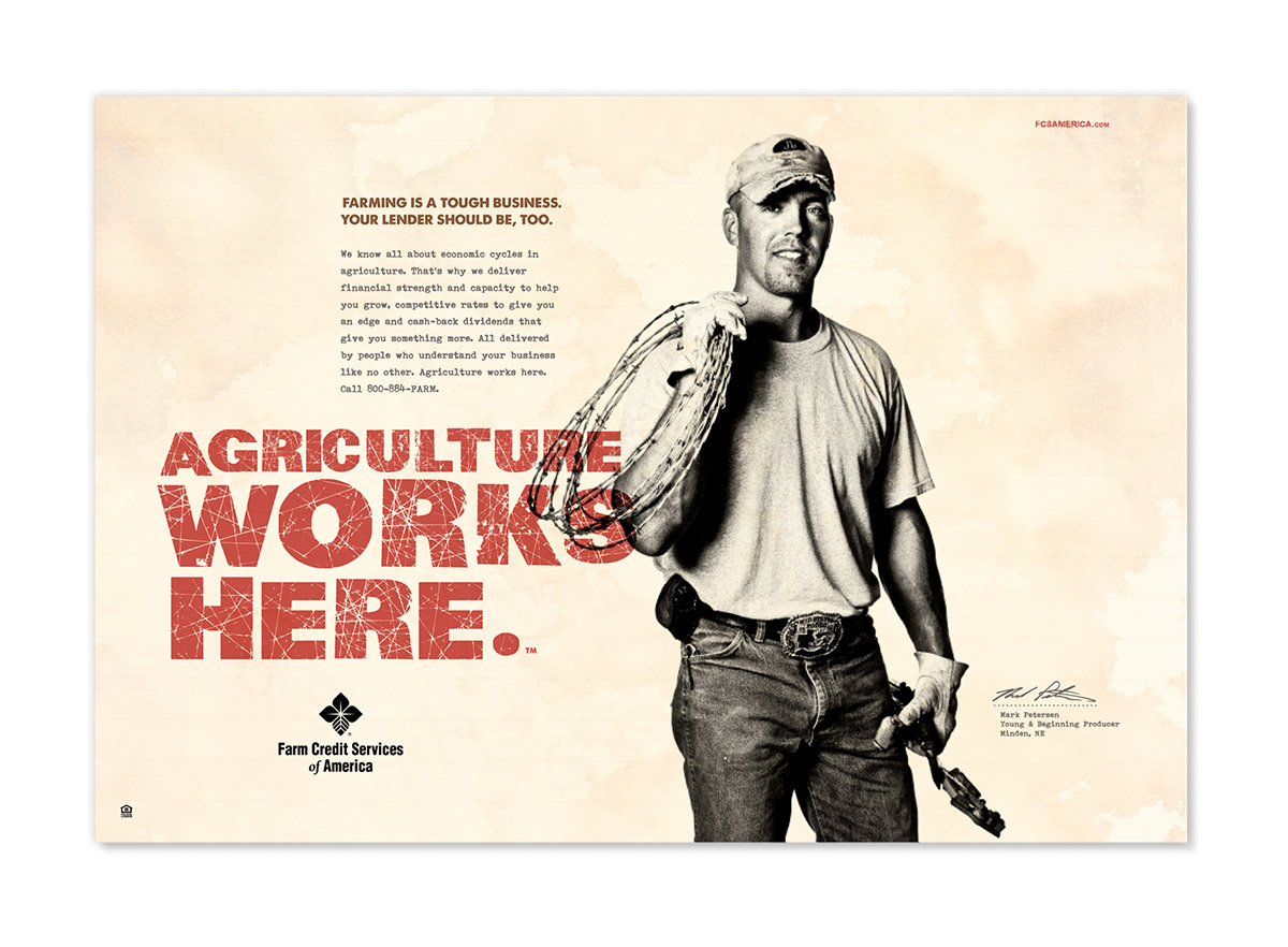 Agriculture Works Here Advertising Example