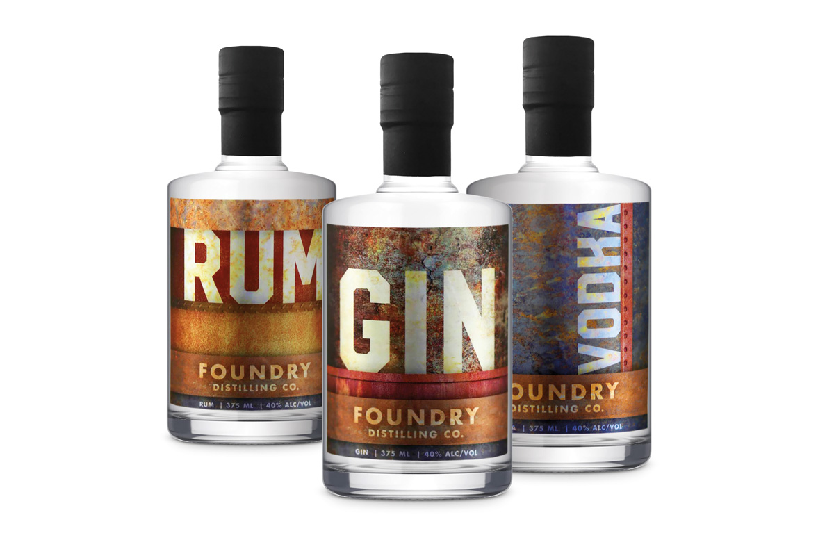 Foundry Distilling Bottles