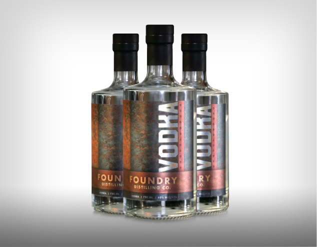 Foundry Distilling Company Beverage Branding Example