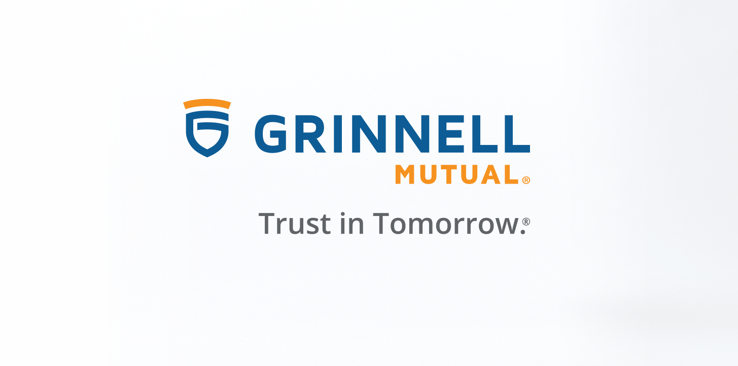 Grinnell Mutual Logo and Trust in Tomorrow Tagline