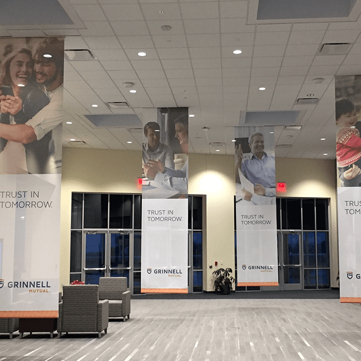 Grinnell Mutual Lobby Banners Example