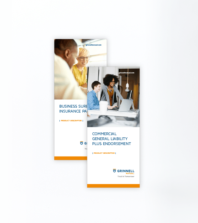 Grinnell Mutual Trifold Brochure Cover Example