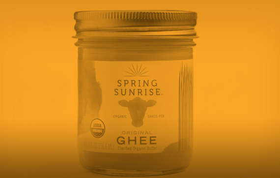 Spring Sunrise Ghee Food Branding Example