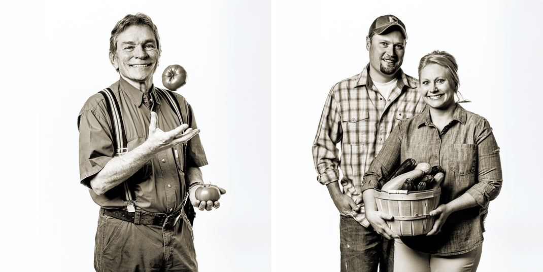 Tomato and Squash Grower Portraits