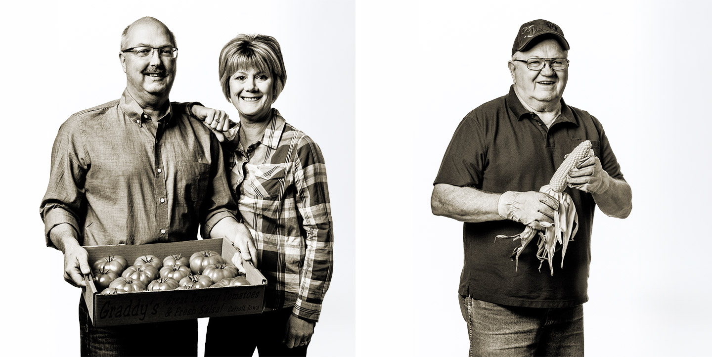 Tomato and Corn Grower Portraits