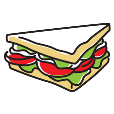 That's Smart Sandwich Icon
