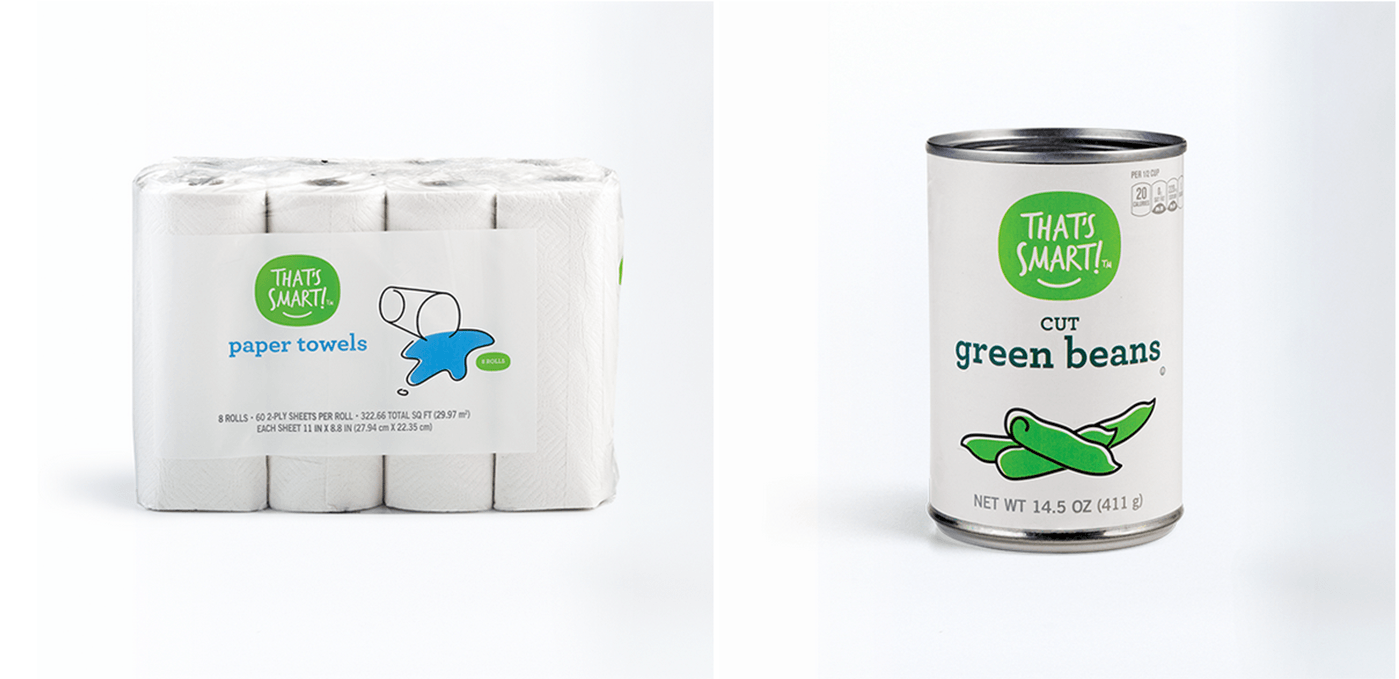That's Smart Paper Towels and Green Beans Food Package Design