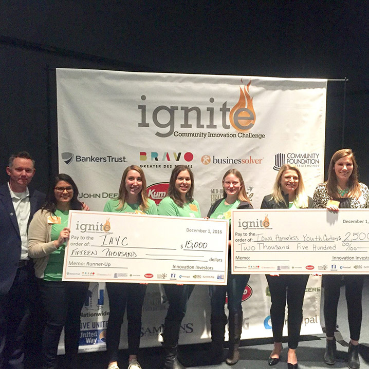IHYC Receiving Donation at Ignite Event