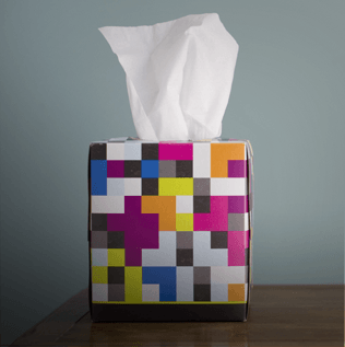 Facial Tissue Box on Counter