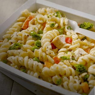 Cooked Chicken and Veggie Pasta Frozen Dinner