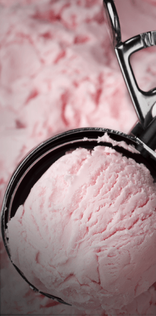 Strawberry Ice Cream in Scoop
