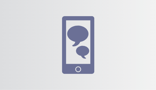 Social Media Thought Bubbles on Mobile Phone Icon